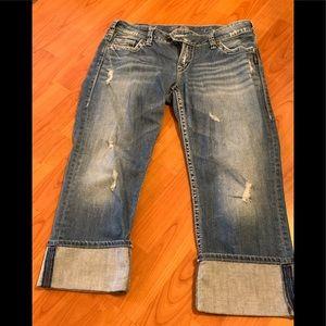 Silver jeans Tuesday capri W31